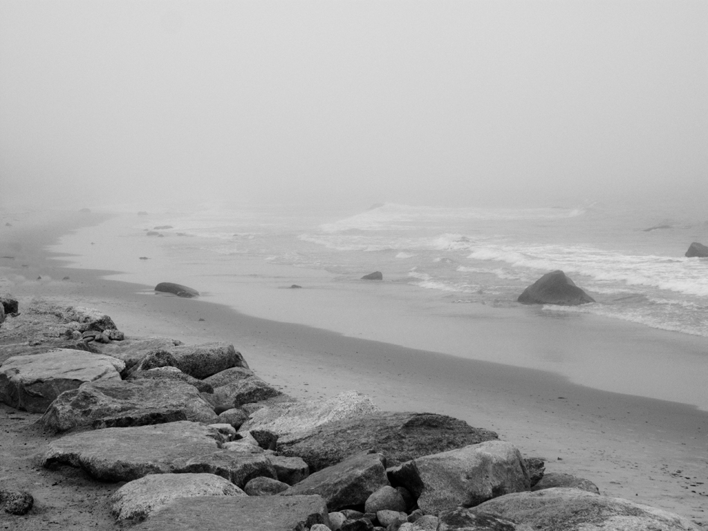 Squibnocket in Fog (BW)