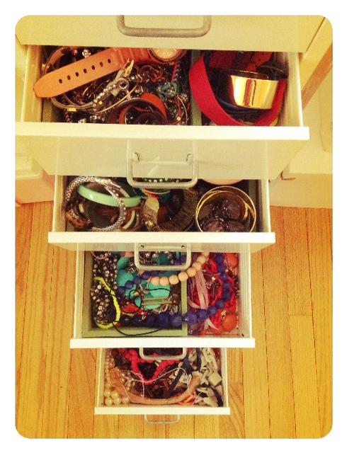 My jewelry drawers!