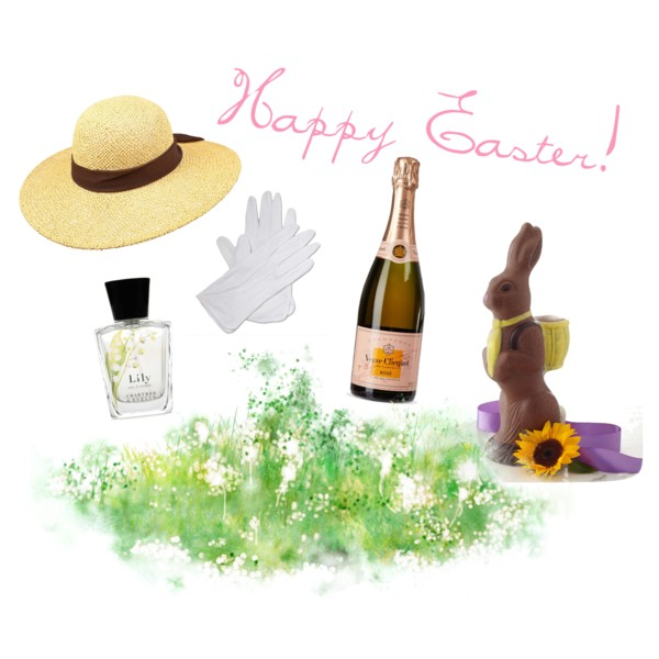 My faves:   Peter Beaton Straw Hat  |  White Gloves  |  Veuve Clicquot Rose  |  Bissinger's Chocolate Bunny  |  Crabtree & Evelyn Lily of the Valley