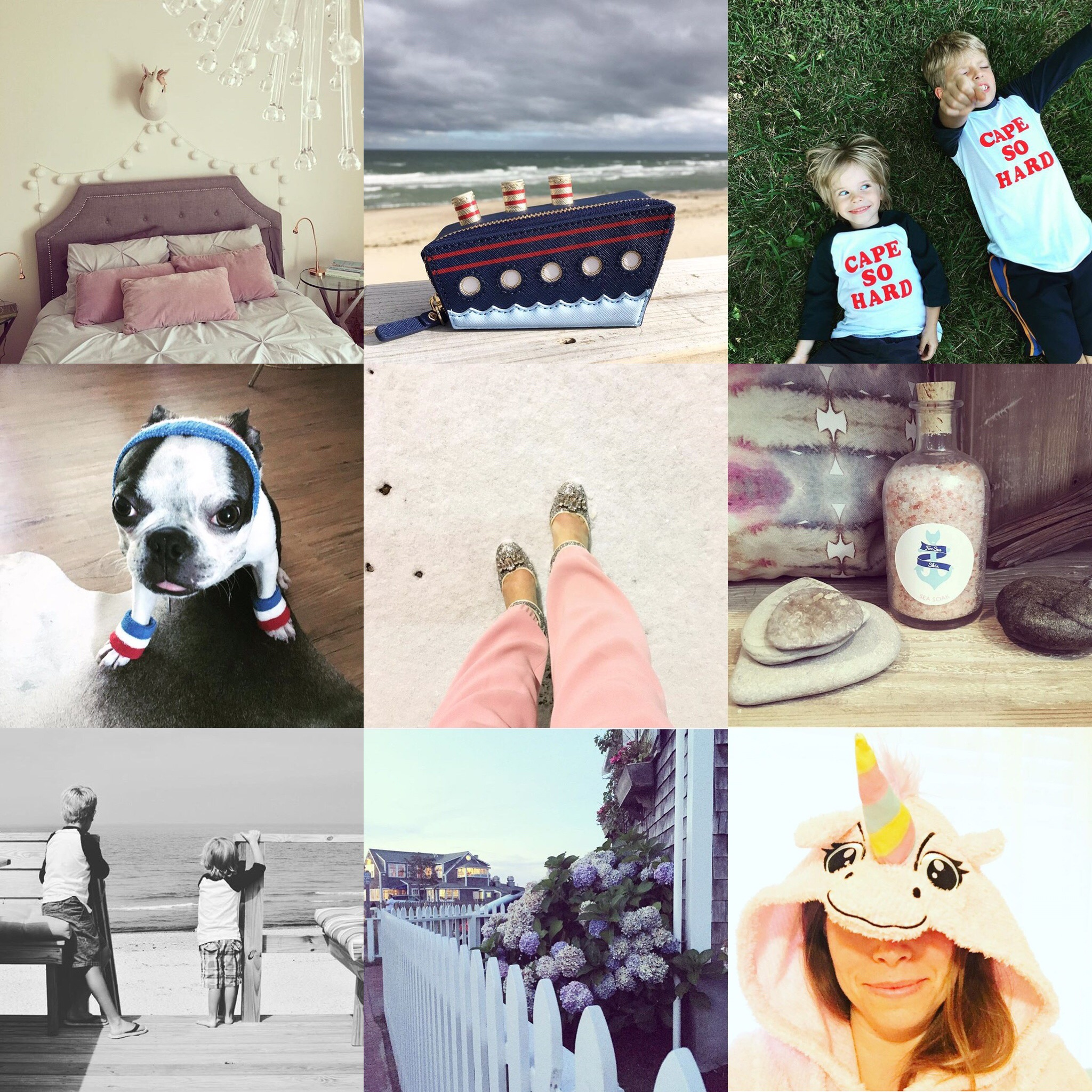 Unicorns, time spent on Cape Cod and Nantucket with my fellas, the most adorable cruise ship ever and the addition of our little Boston Terrier, Buoy Darling, made 2016 pretty sweet.