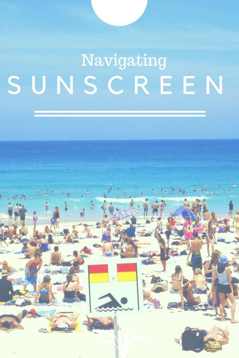 navigating sunscreen