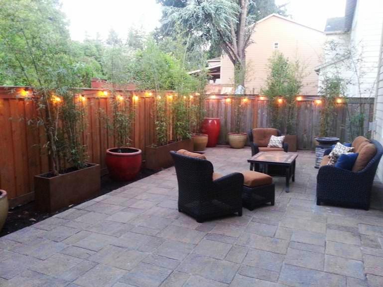 And the new fabulous backyard!