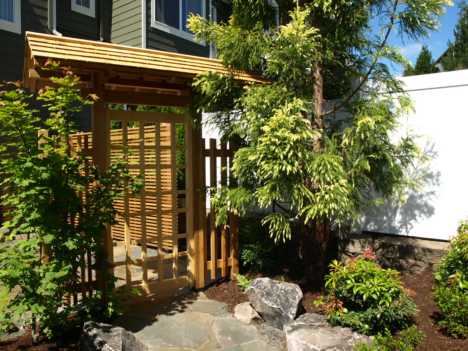 One of our landscape installations, with a design by Mike Ellena.