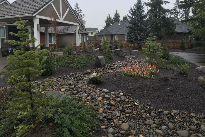 hillsboro rain garden instalation