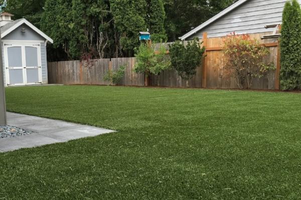 Artificial turf = no mowing!