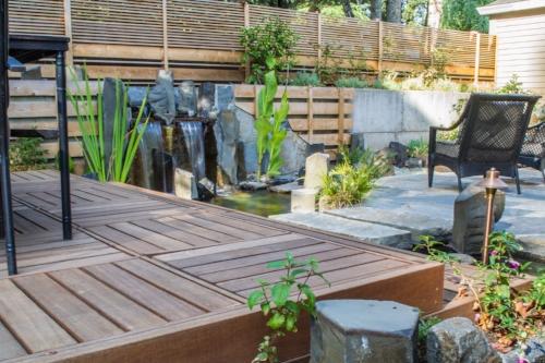 Ipe deck and Cedar Fence
