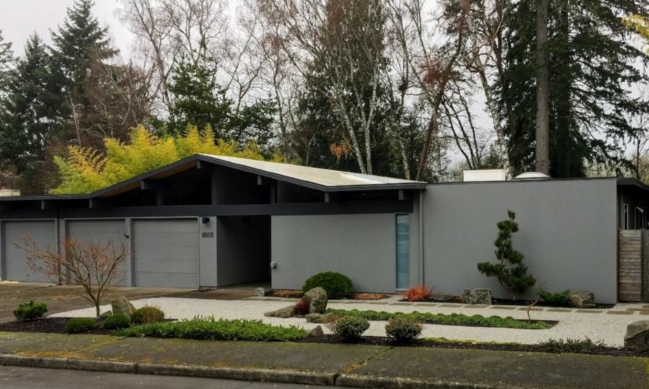Raleigh Hills Mid Century Modern Landscape Ross Nw Watergardens
