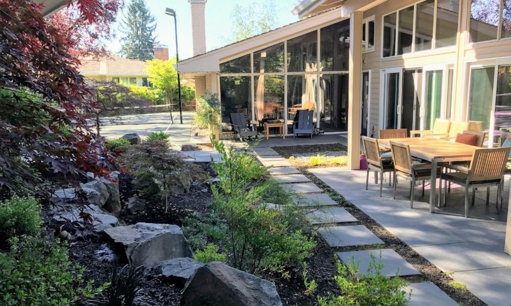Midcentury Landscape Renovation Ross Nw Watergardens Portfolio