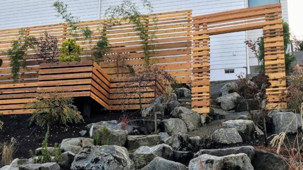 modern cedar screens