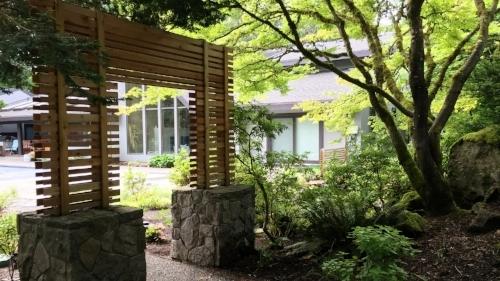 custom cedar moon gate japanese garden