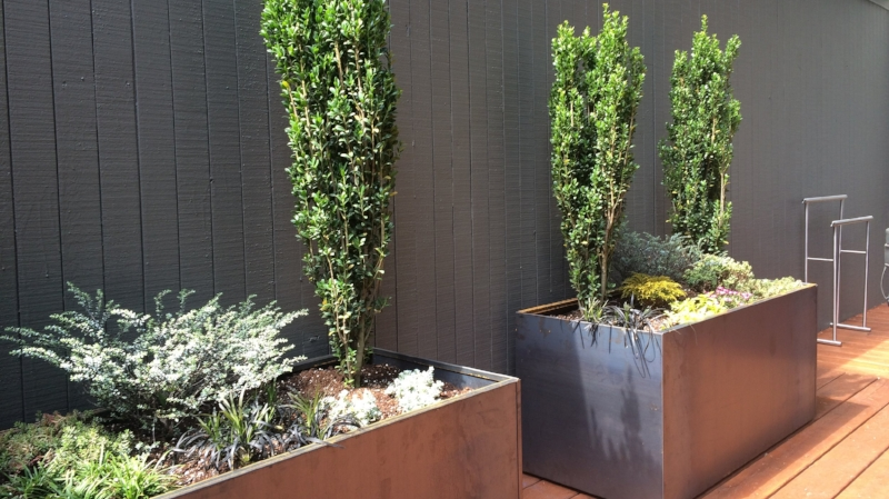 corten steel planters from Nice Planter LLC