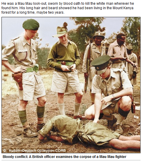 My principal Masai tracker shook his head and drew his finger..............  It was 1955 and the 'Kenyan Emergency', which began in 1952 and lasted until the end of the decade, was at its height. The Mau Mau were rebels against British rule. Most of them were drawn from the Kikuyu, Kenya's biggest tribe,................