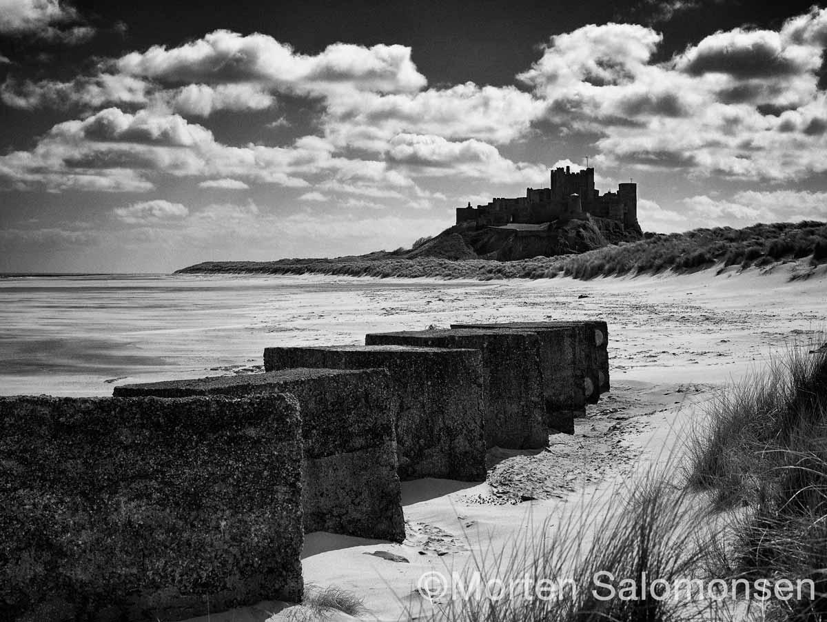 Bamburgh Castle and 2nd world war tank defences