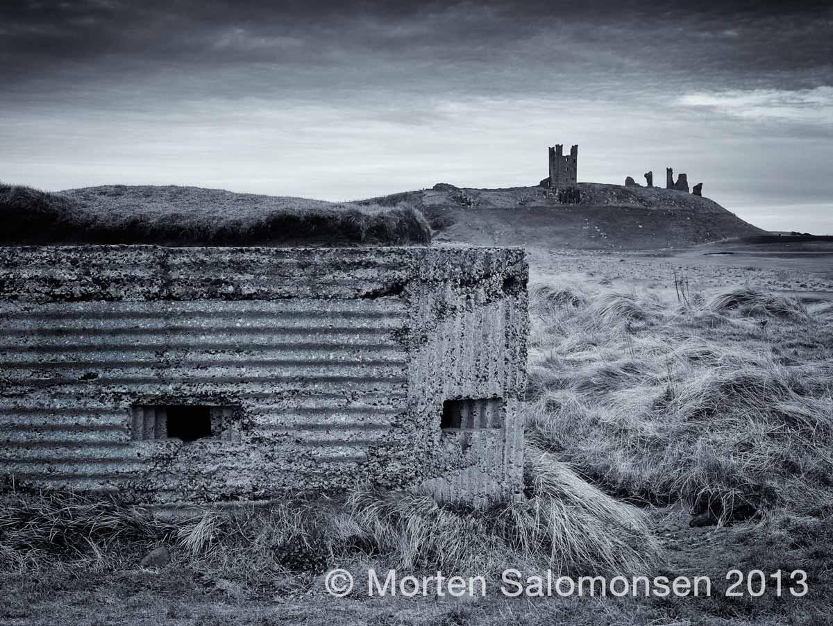 WWII pillbox bunker north of Dunstanburgh Castle