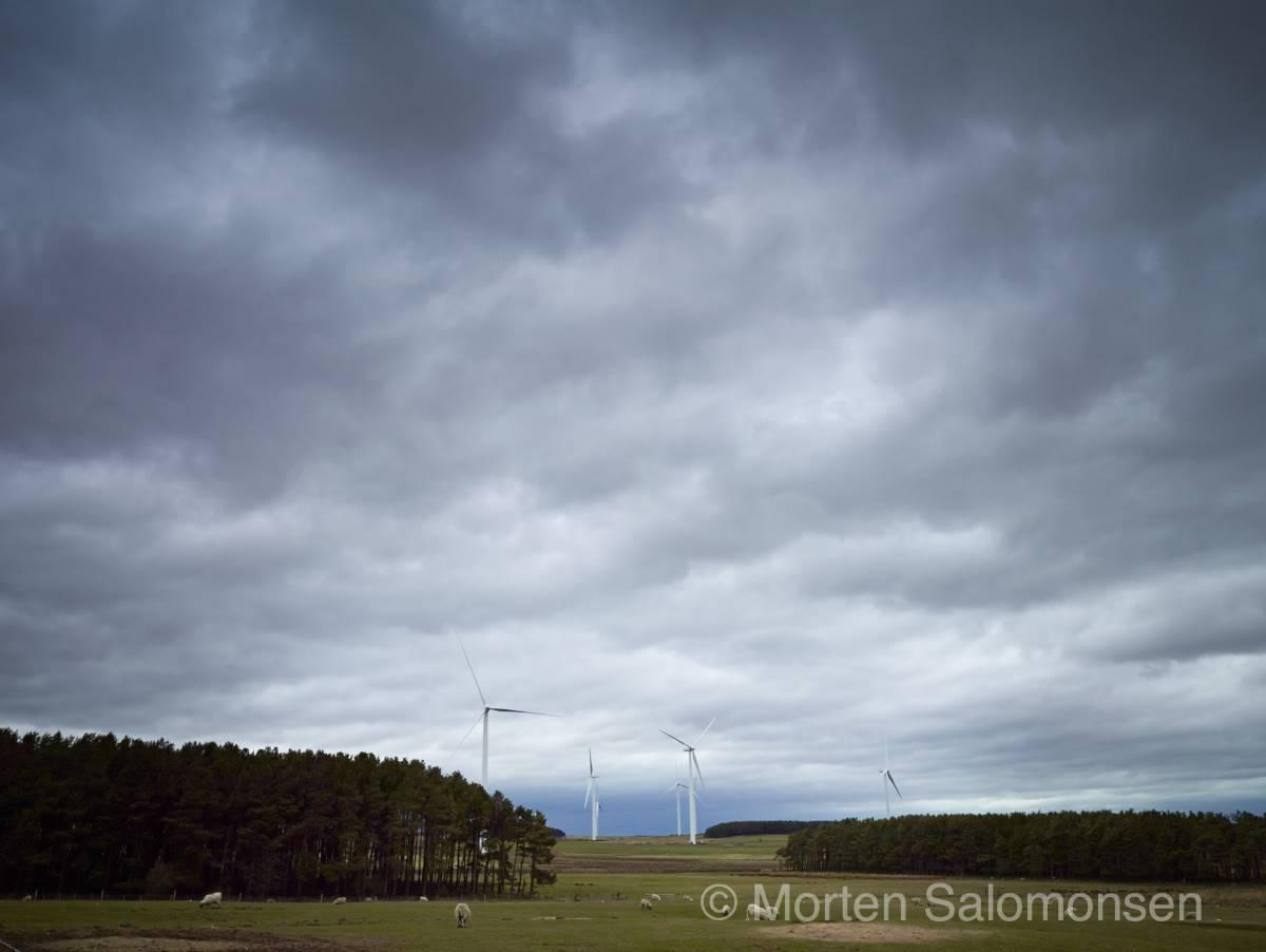 Northumberland, wind farm on Middle Moor