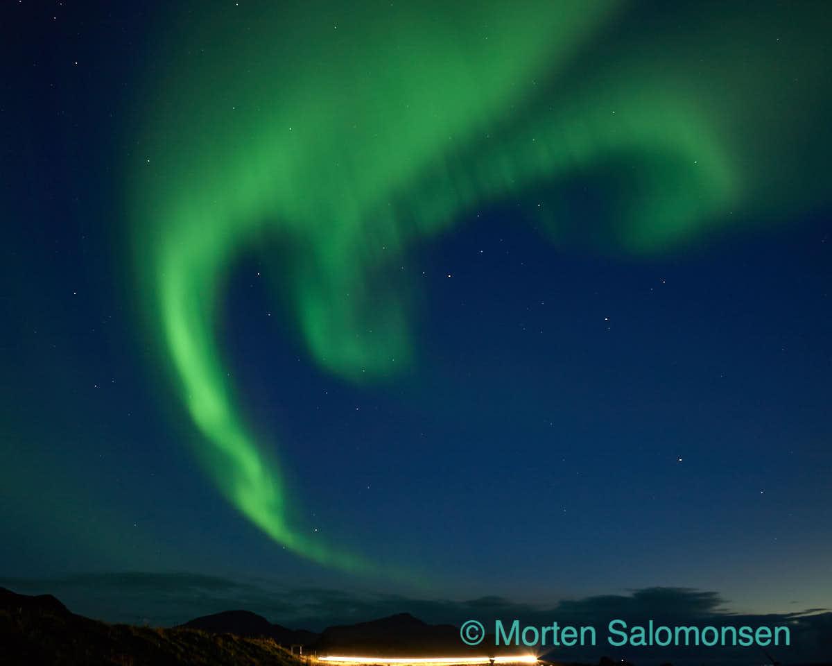 Aurora at Skagsanden, Lofoten Islands