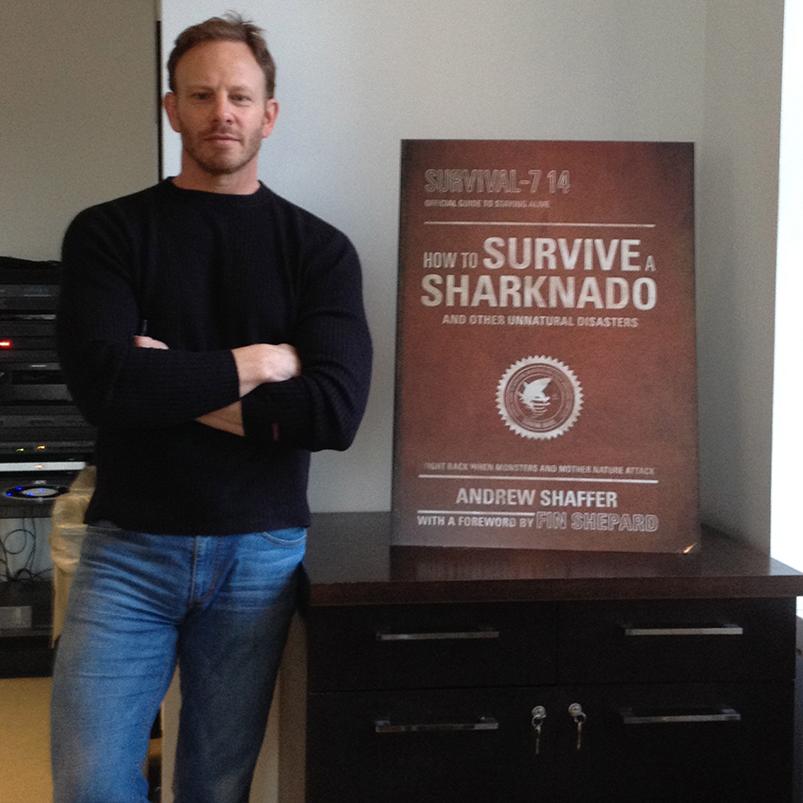 Sharknado 2's  Ian Ziering with  How to Survive a Sharknado