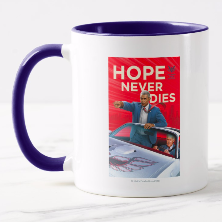 Hope Never Dies: An Obama Biden Mystery Mugs, T-Shirts, & More on Zazzle.com