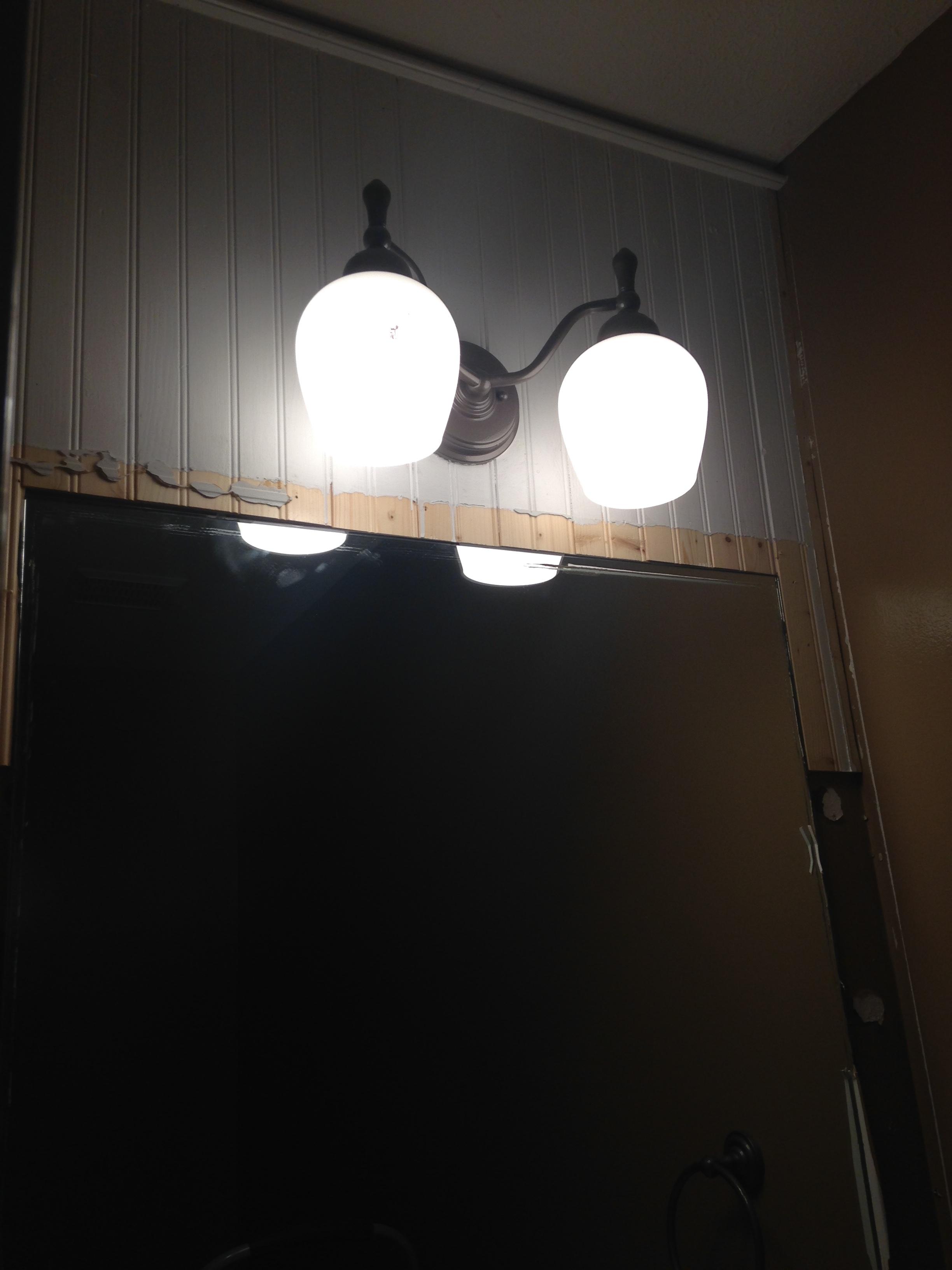 Bathroom Demo - Crooked Beadboard!