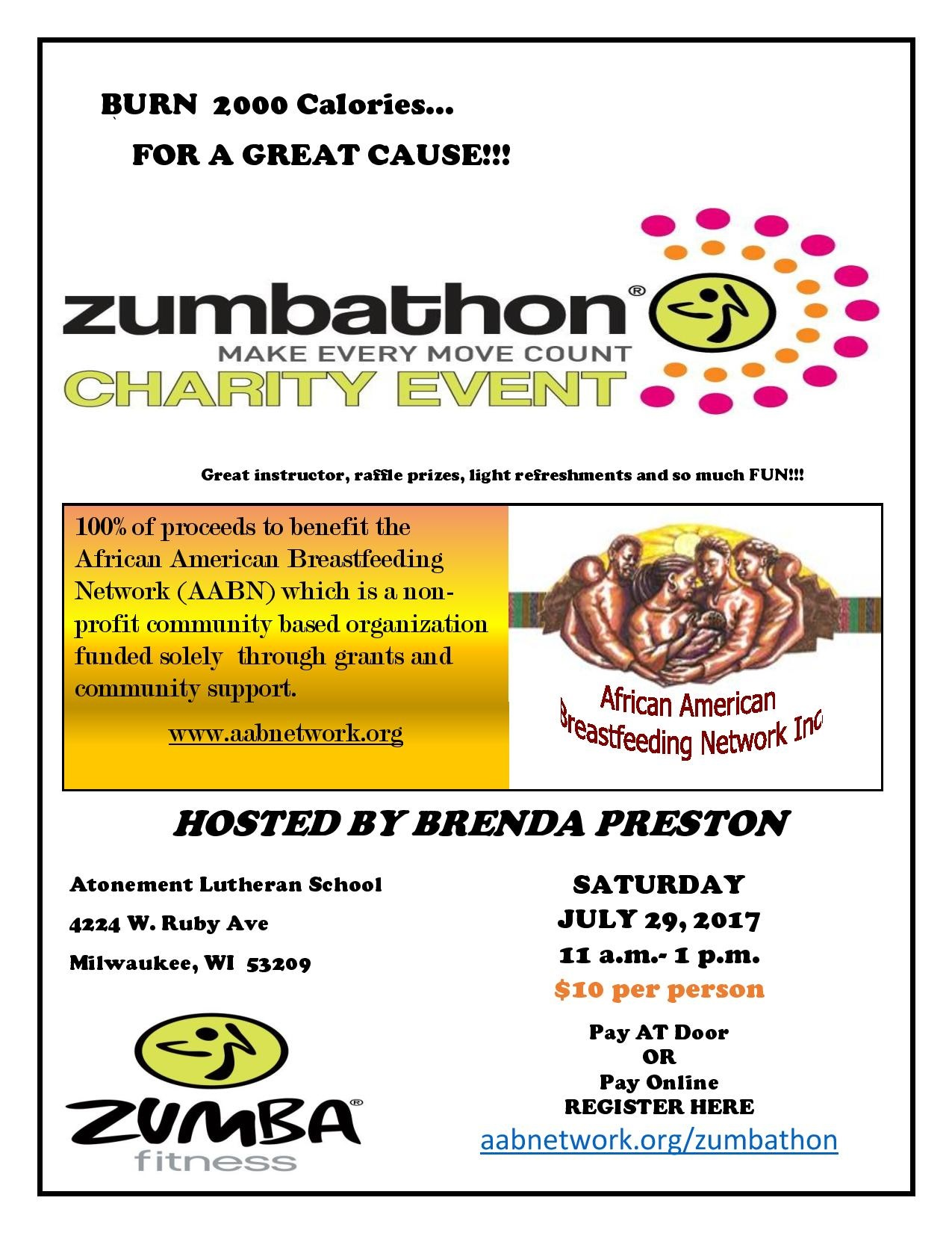 Come join us on Saturday July 29th for Zumbathon!!Please complete the following form to attend. -