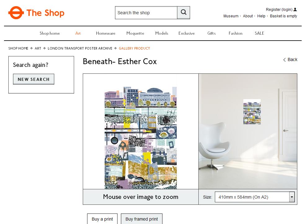 LTM shop Beneath by E Cox