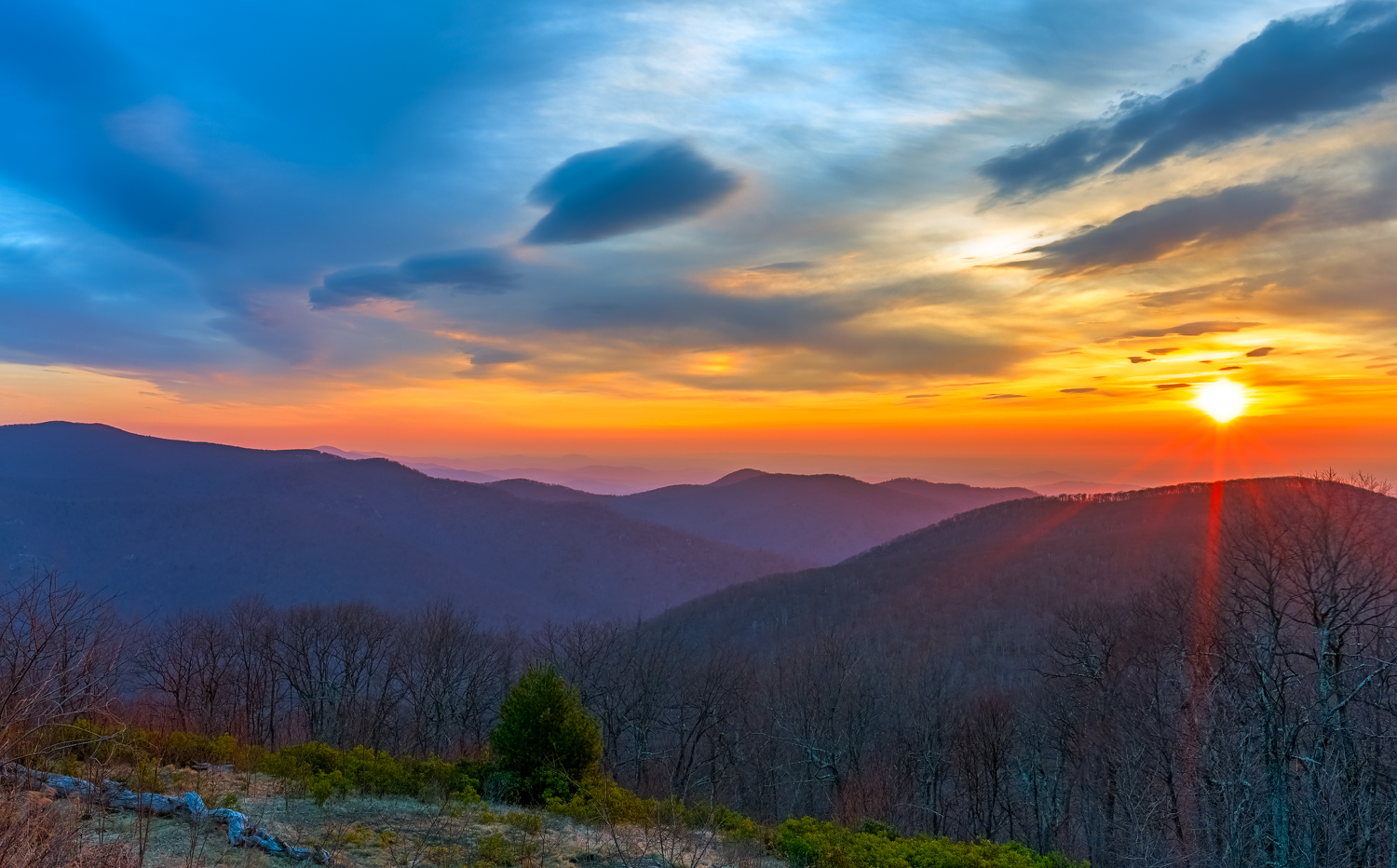 click to enlarge - Blue Ridge Sunrise