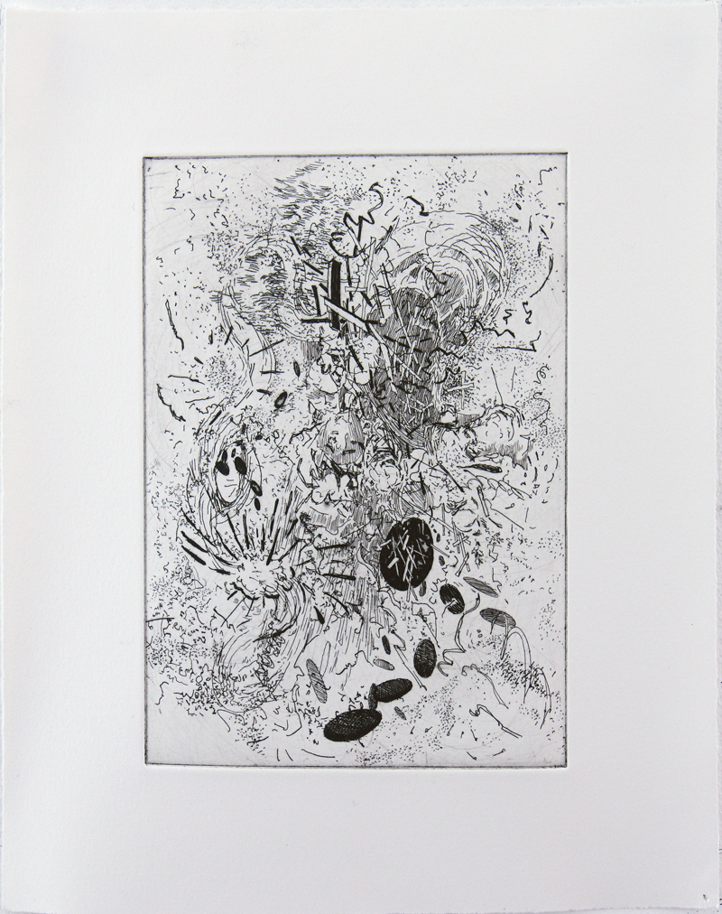 Chronon Hard ground etching on copper • 26cm x 34cm • 2005 Click image to enlarge