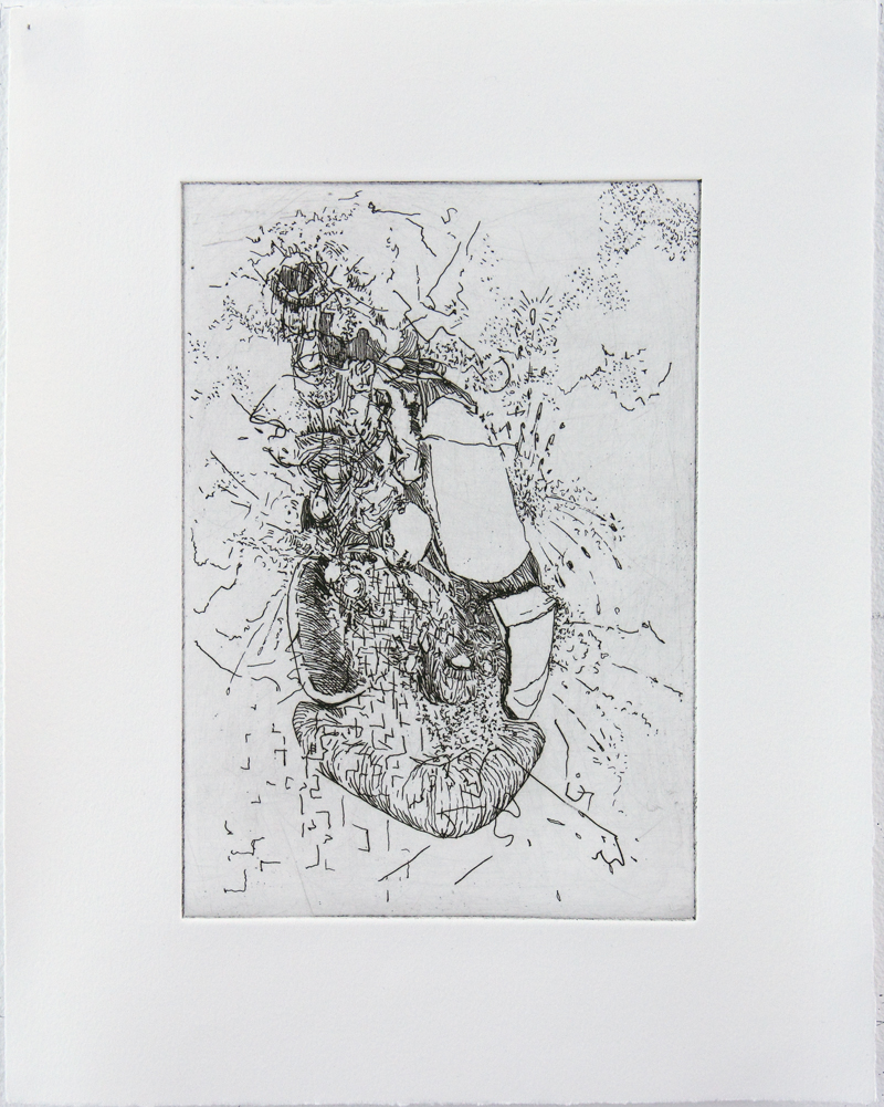 Fat Luxon Hard ground etching on copper • 26cm x 34cm • 2005 Click image to enlarge