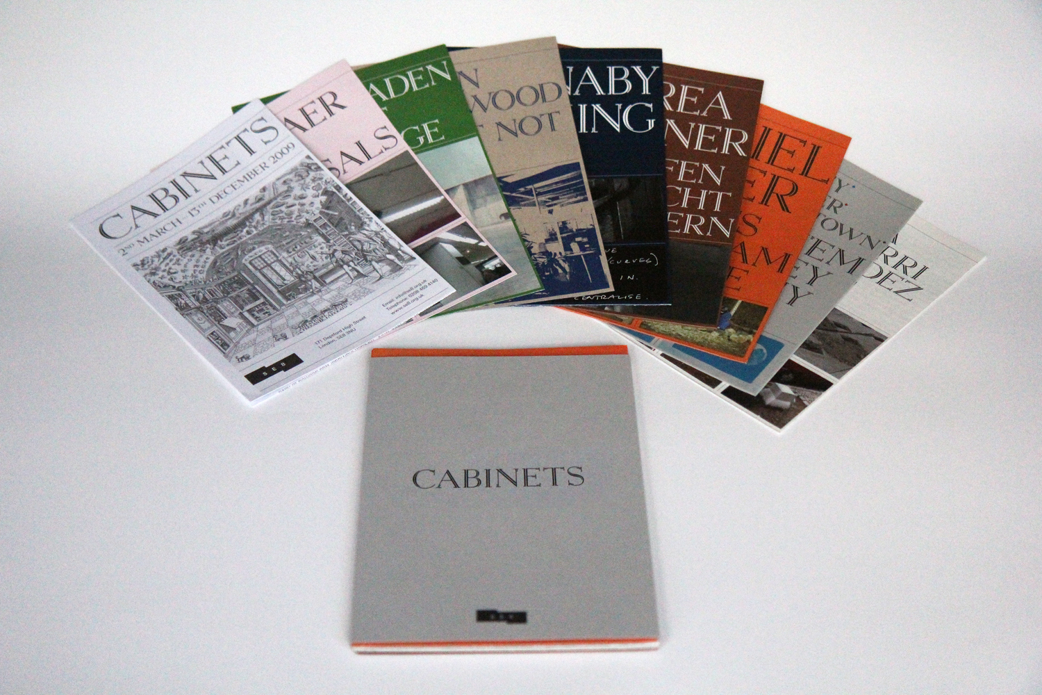 Cabinets - Printed matter - 9 pamphlets with outer cover - limited edition 150