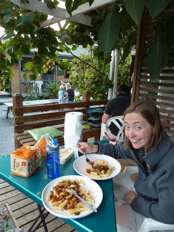 Dinner Under A Kiwi Fruit Tree