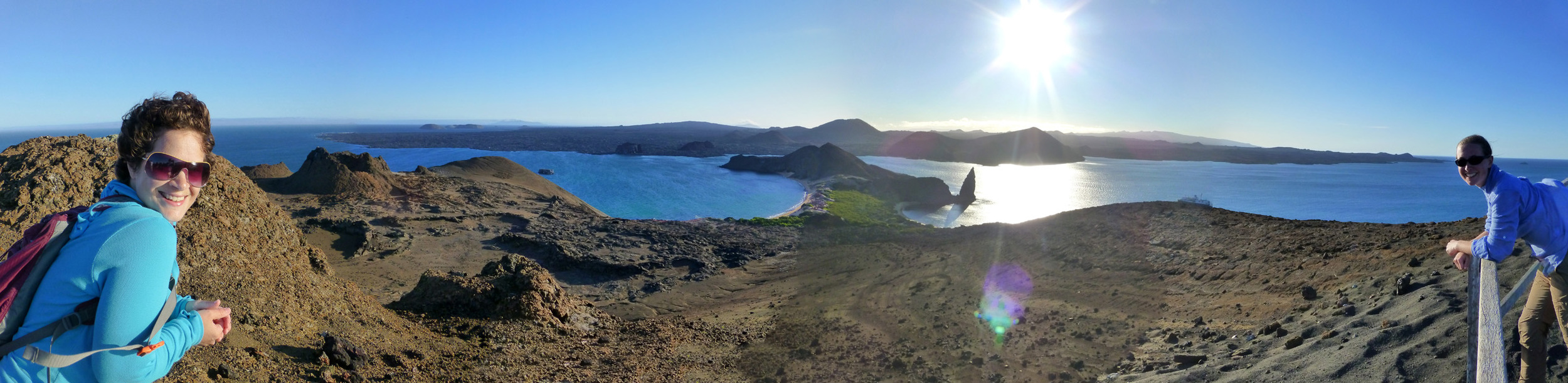 The view at the top of Bartolome Island.