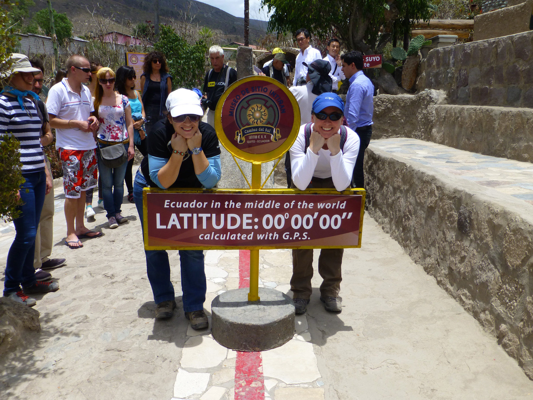 The Real Equator. Look! Katie and I are standing on the actual equator this time!
