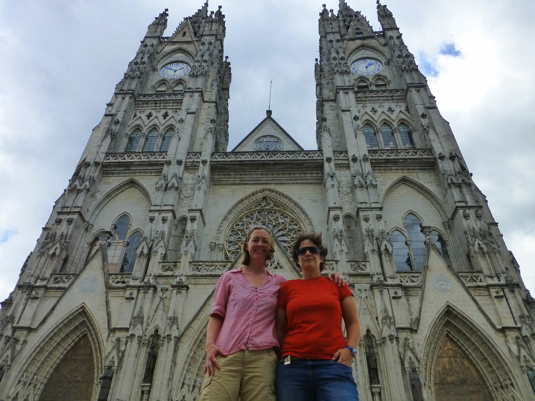 The Basílica del Voto Nacional. The tallest church in Ecuador, the Basílica is a neo-Gothic style church that rivals the Notre Dame in architecture. It's my favorite place in Quito.