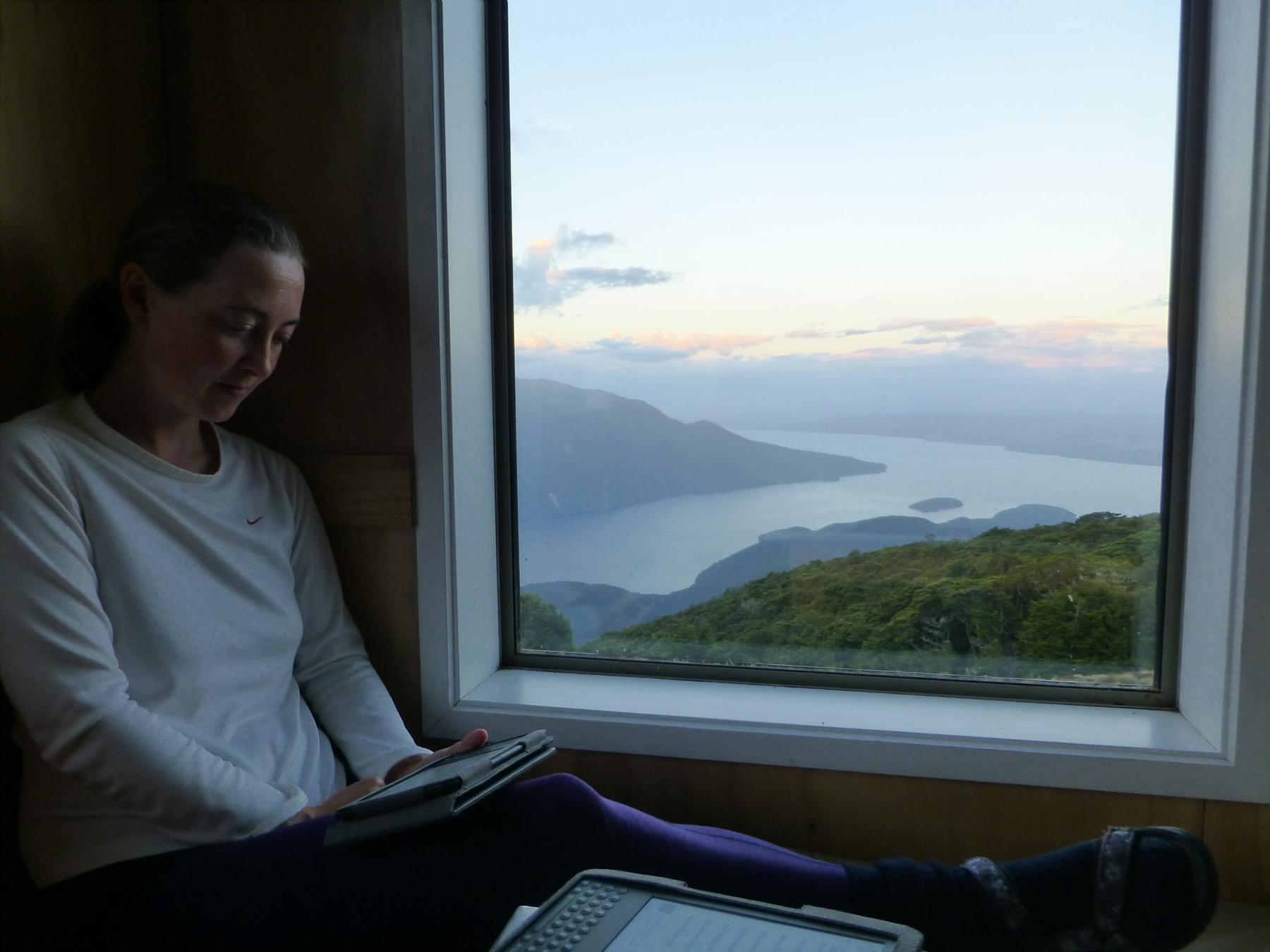Reading At Dusk