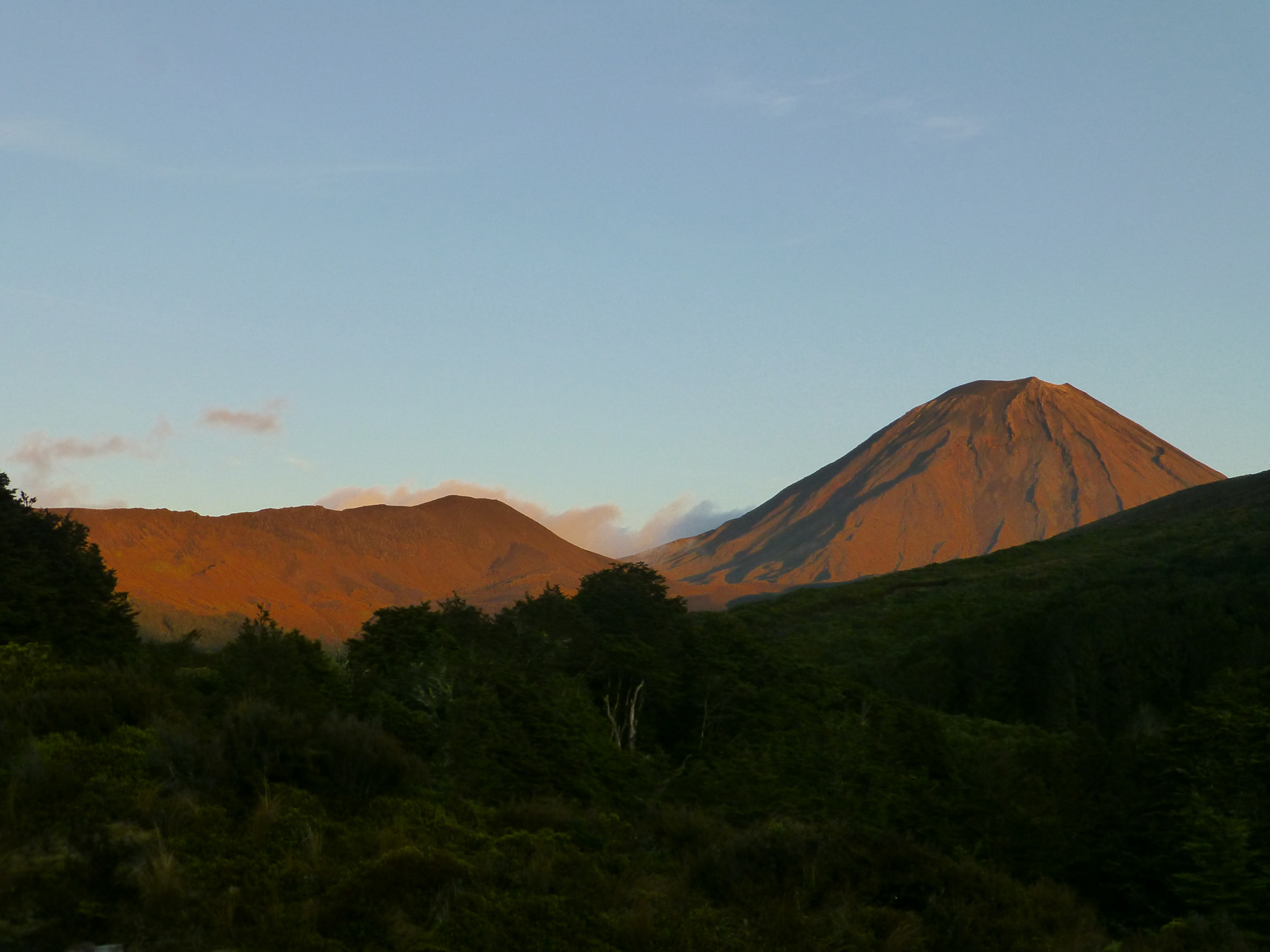 Sunrise on Mt. Ngauruhoe