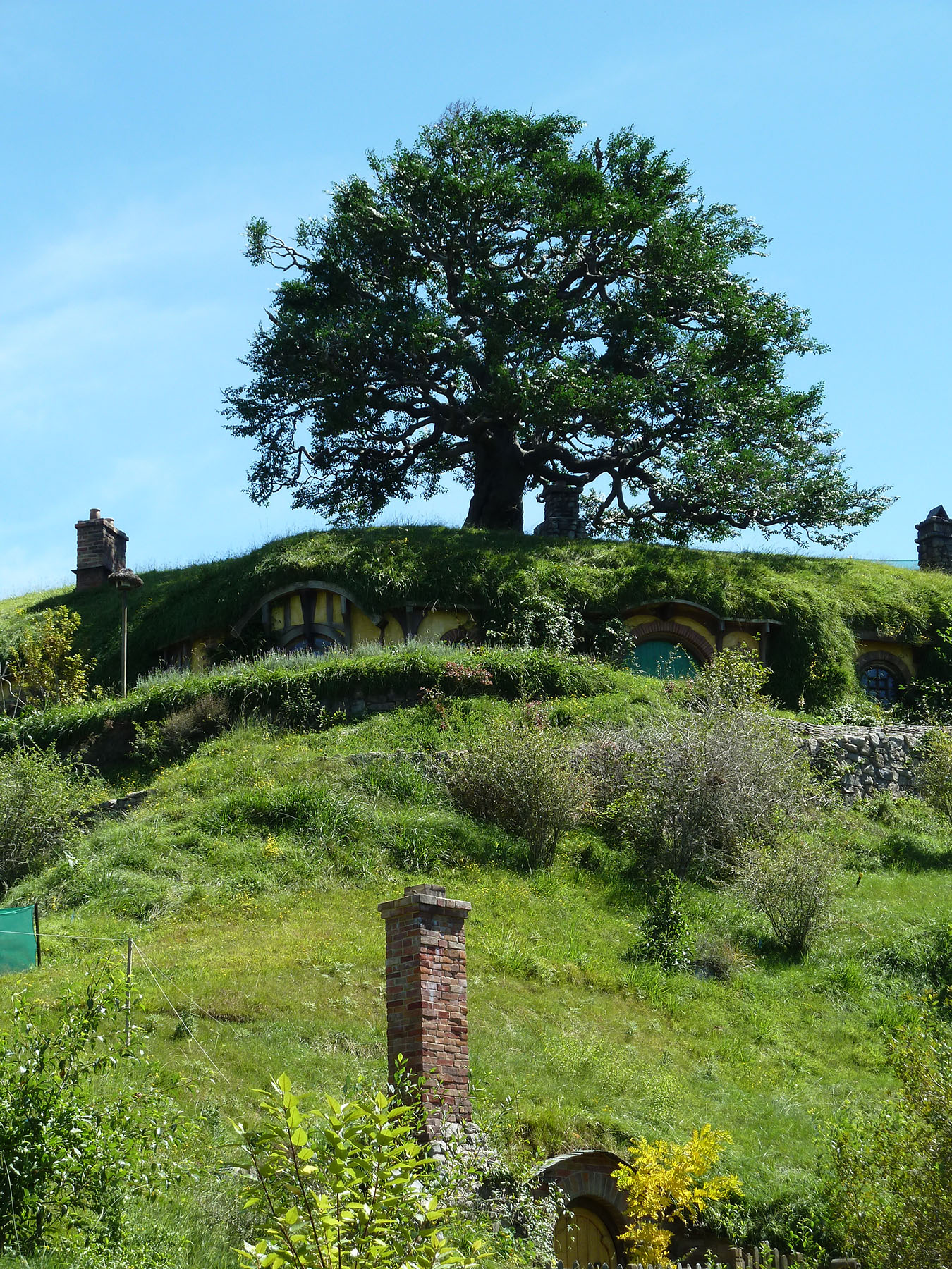 Hobbit Hole Chimneys