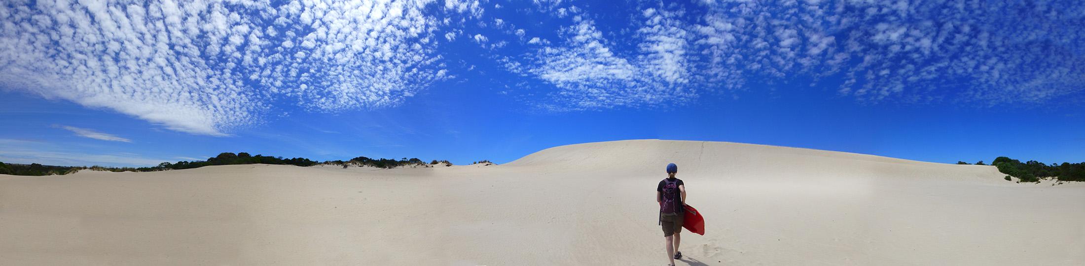Climbing Little Sahara