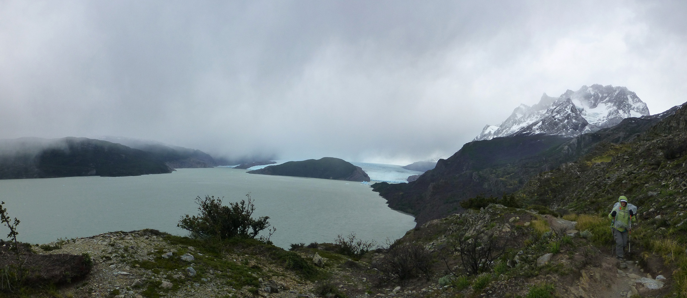 Experiencing the Patagonian winds.
