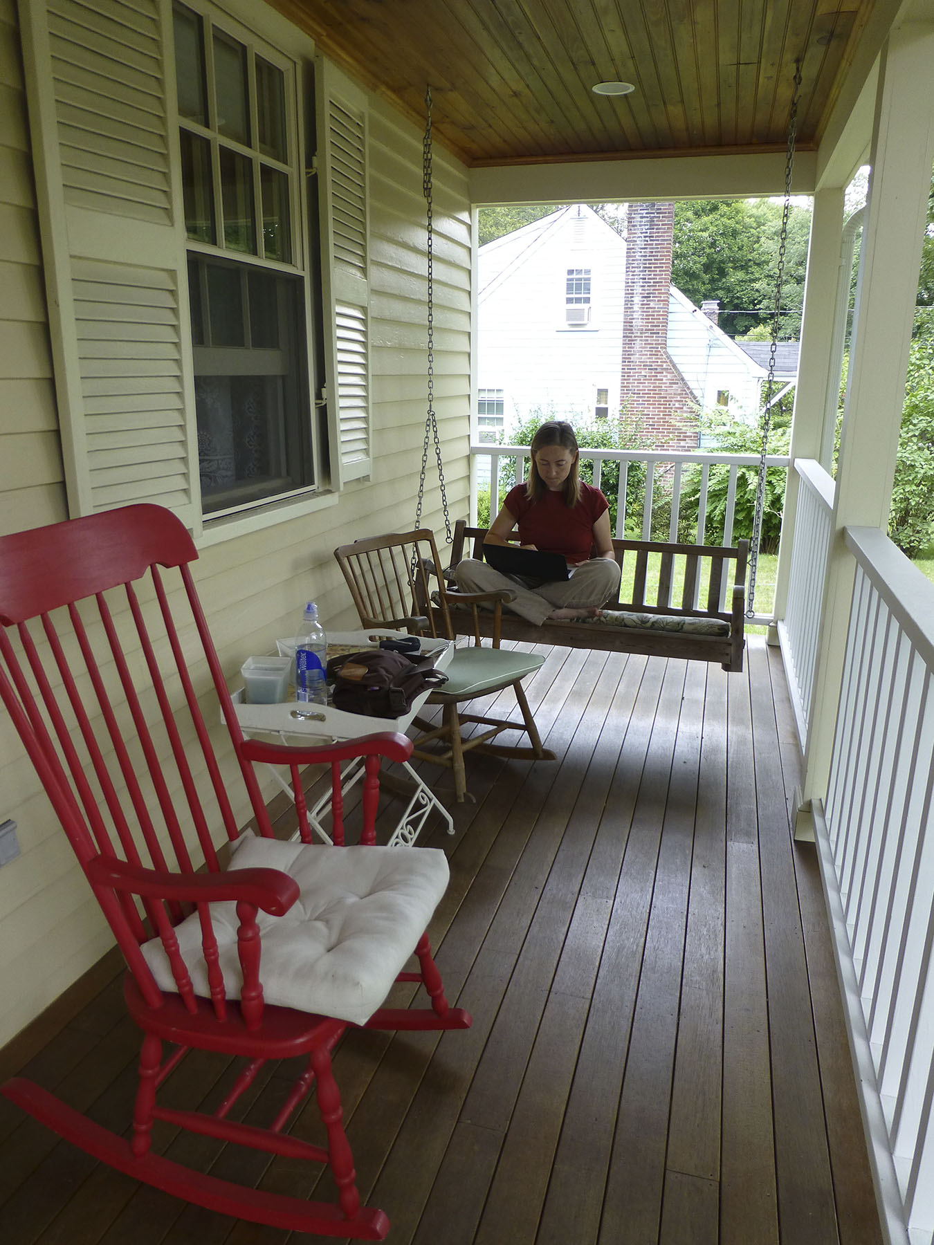 I've spent many hours on this front porch exploiting free wifi.