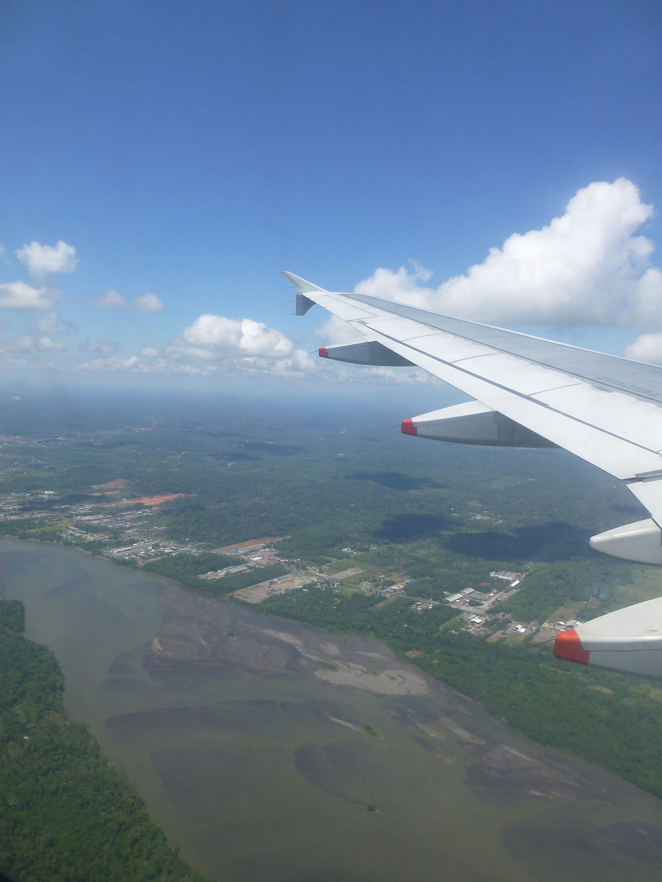 Flying into Coca from Quito. The Napo River flows below us.