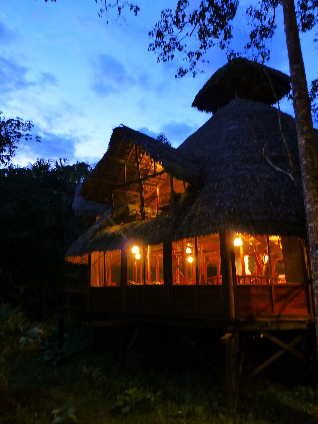 Night Falls On Sacha Lodge
