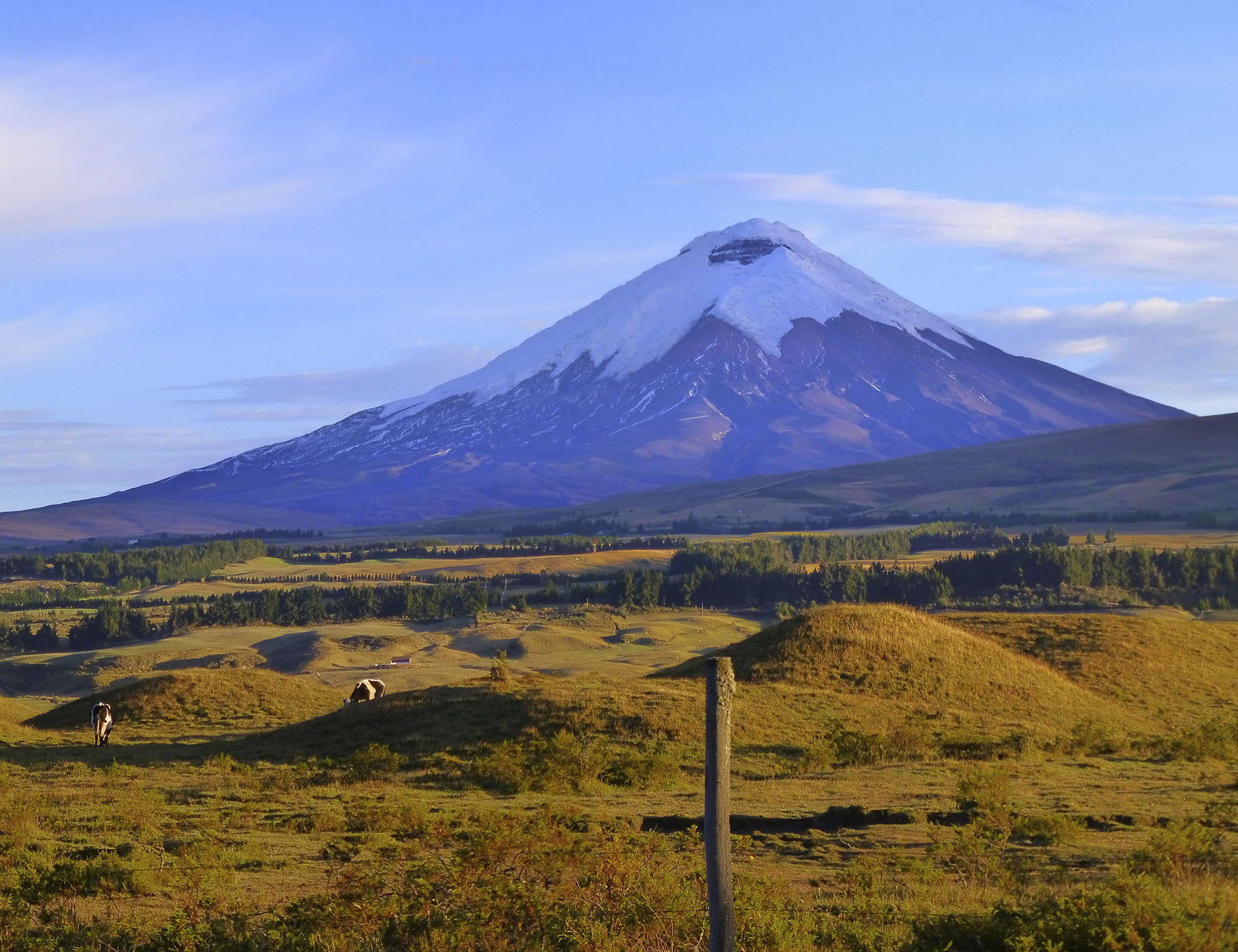 Mount Cotopaxi. One of the highest active volcanoes in the world.
