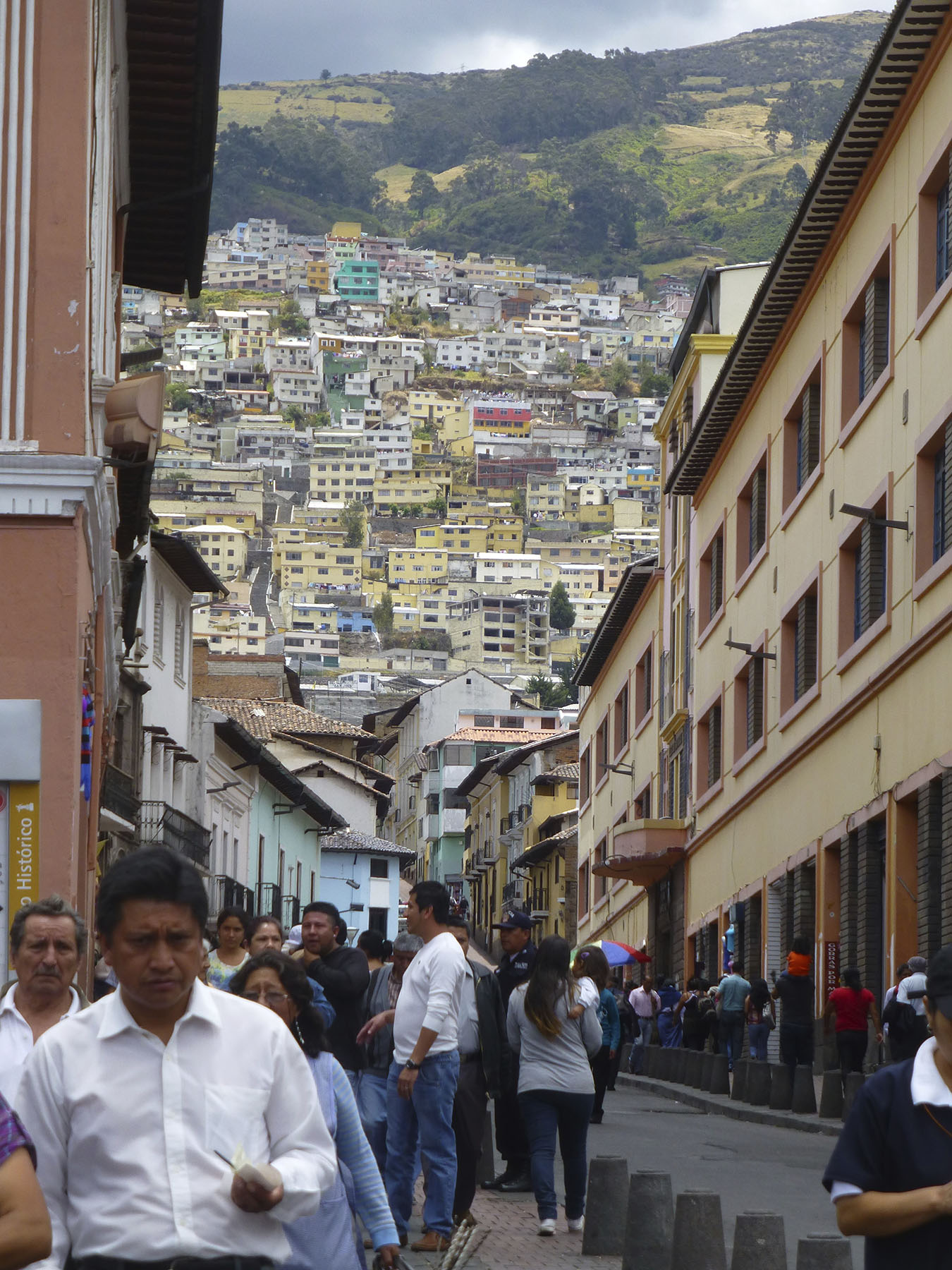 A Typical Street View In the Quito Historic District.