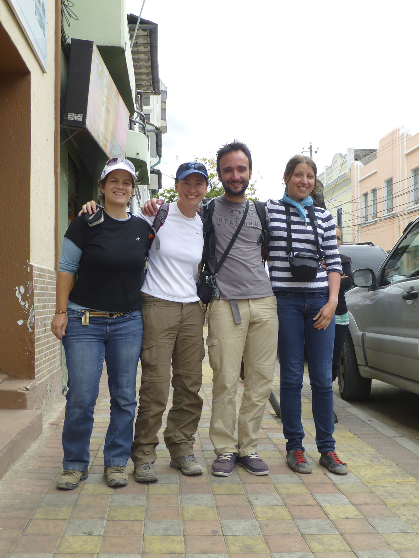 A farewell photo with Guillaume and Mathilde