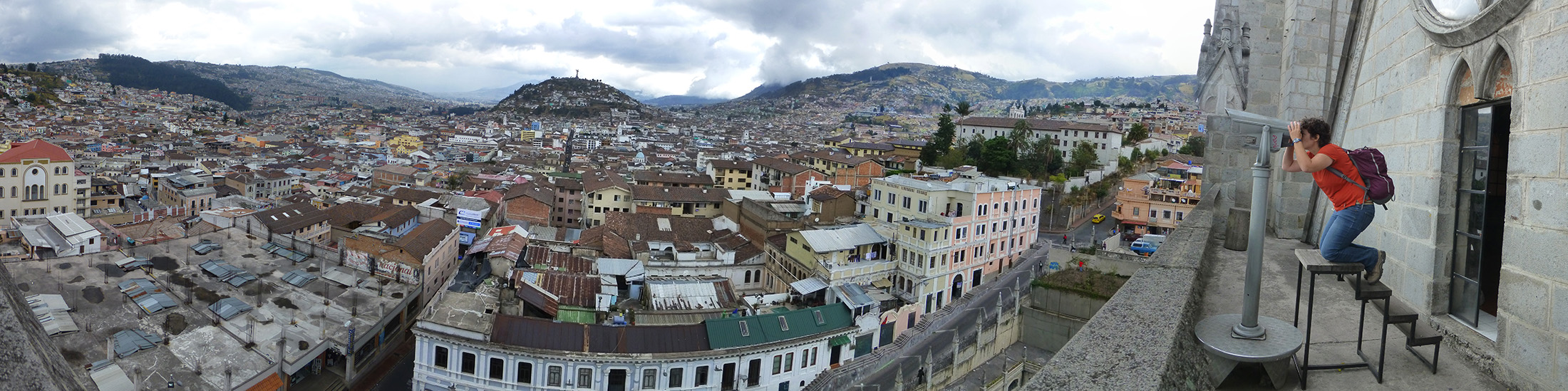 Overlooking Quito From The Basílica