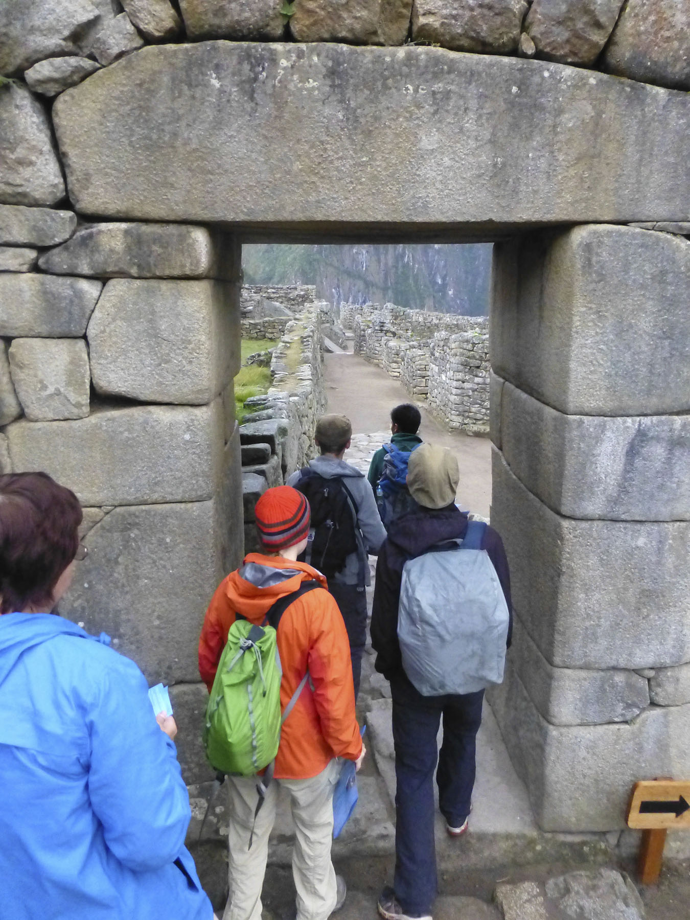 Main gate to Machu Picchu - Check out that stonework!
