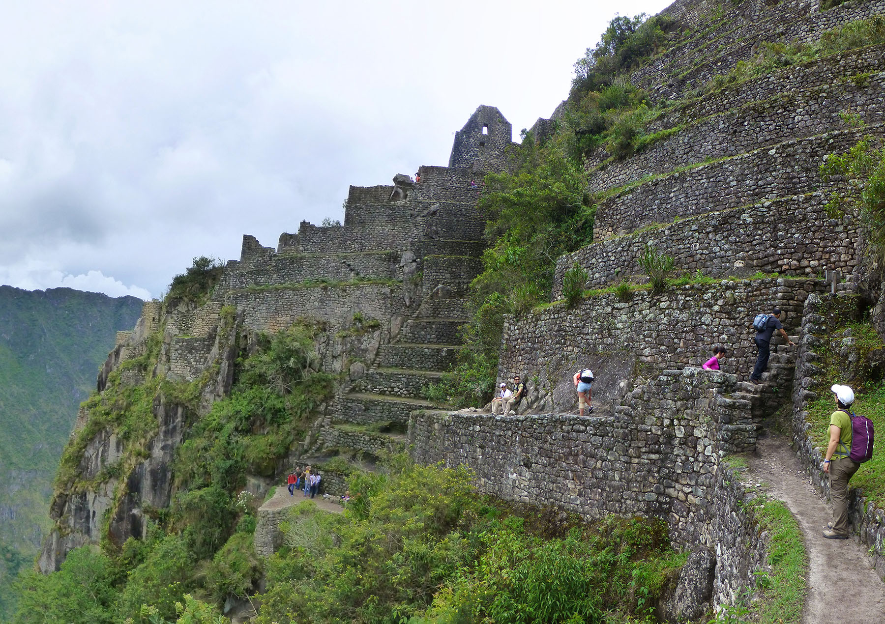 The ruins atop Huayna Picchu