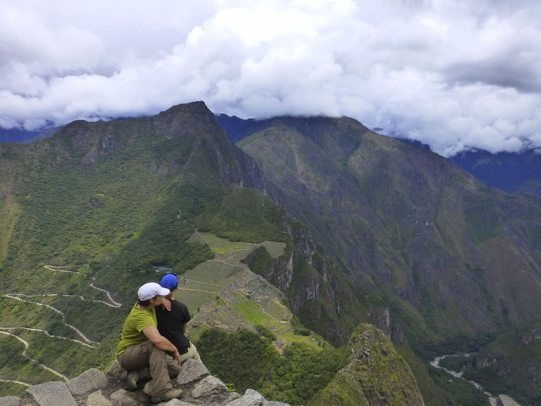 The view from the top of Huayna Picchu