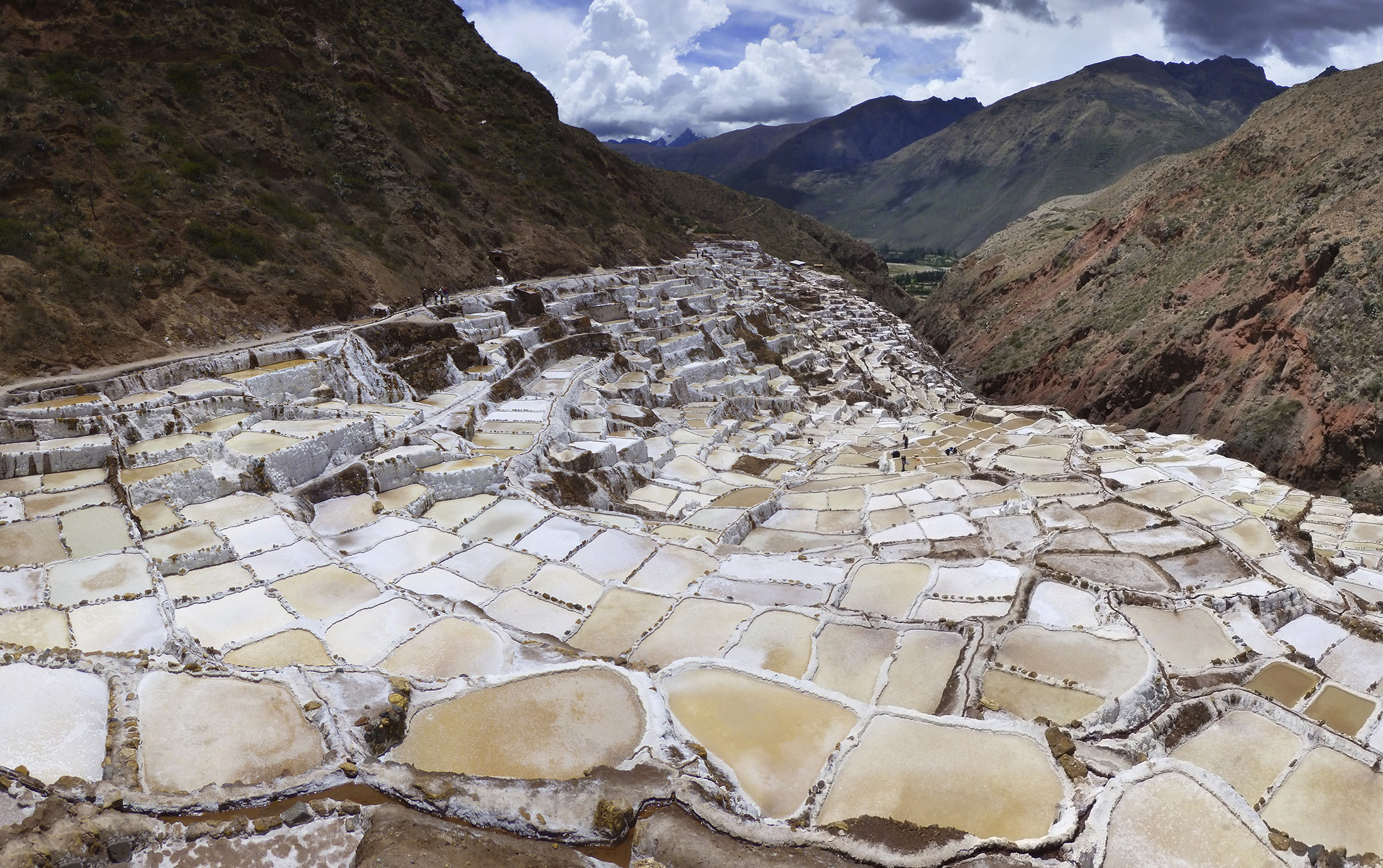 The salt pools of Salinas.
