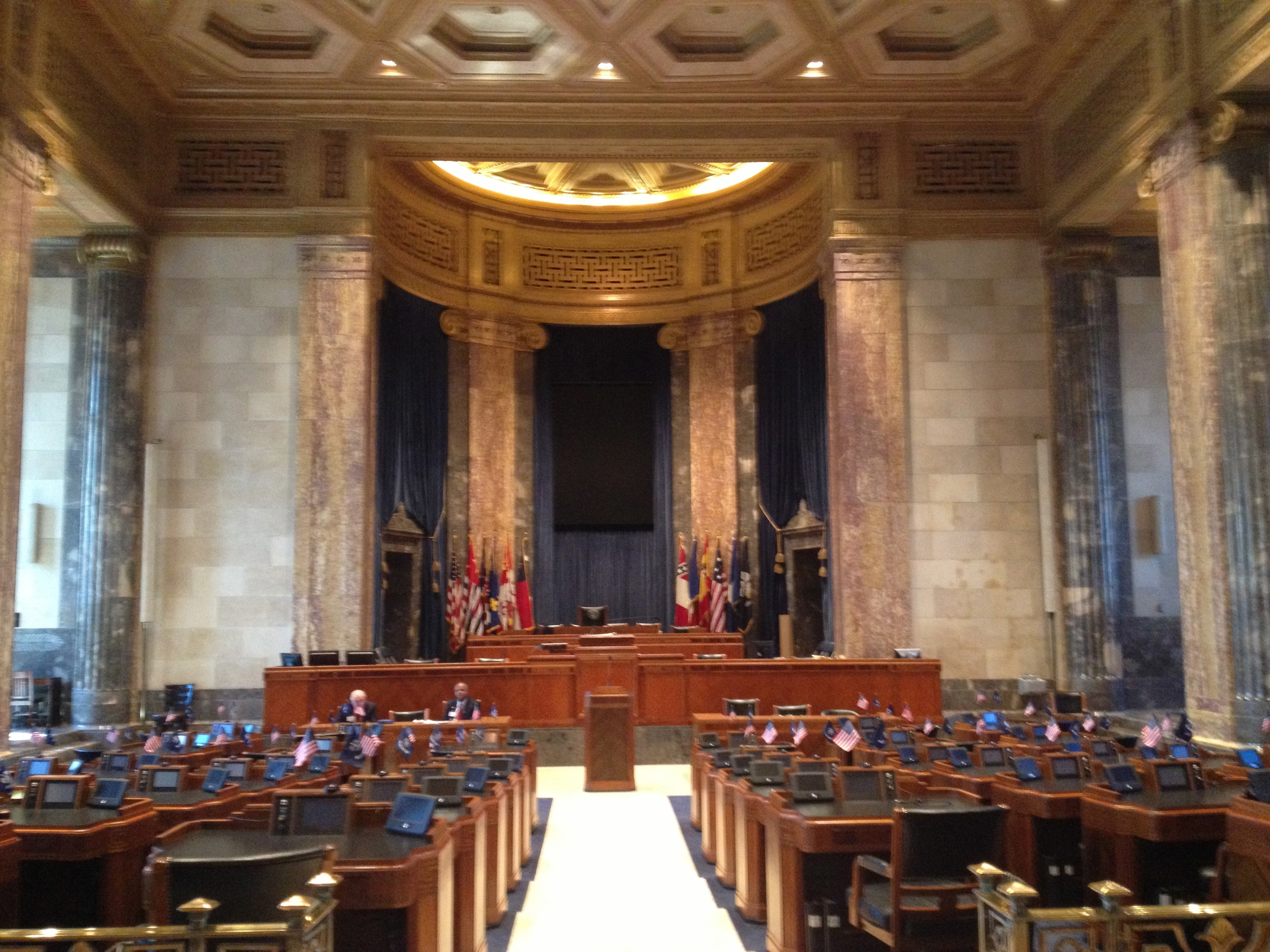 The Louisiana Senate floor